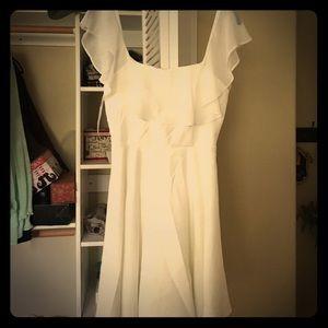 LuLu's White Flowy Dress 🌸